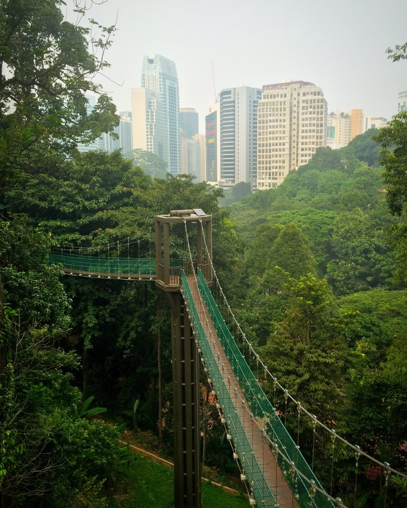 Canopy walkway do Kuala Lumpur Forest Eco Park